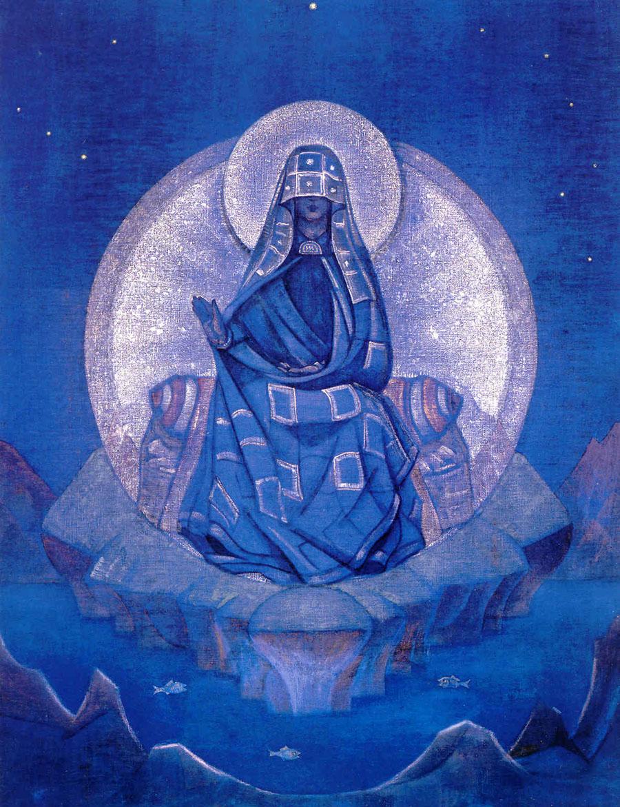 Н.К.Рерих. Матерь мира. Серия «Знамёна Востока». 1924